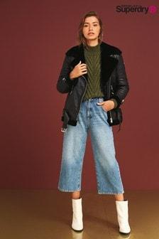 Superdry Blue Wide Leg Jeans