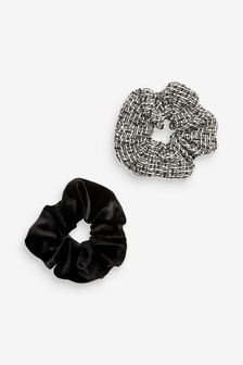 Velvet Scrunchies Two Pack