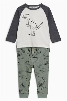 Scribble Dinosaur T-Shirt And Jogger Set (3mths-6yrs)