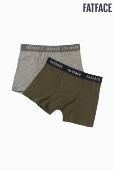 FatFace Green Spot Boxers Two Pack