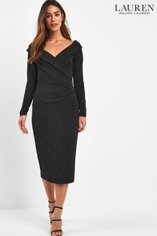 Lauren Ralph Lauren Black Metallic Cammah Dress