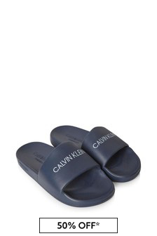 Calvin Klein Underwear Unisex Navy Sliders