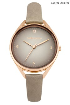 Karen Millen Grey Thin Strap Watch