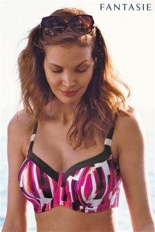 Fantasie Pink Casablanca Underwired Balcony Bikini Top