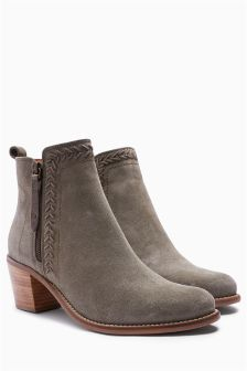 Stab Stitch Ankle Boots