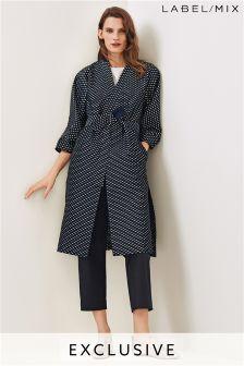 Mix/Osman Black/Navy Jacquard Kimono Coat