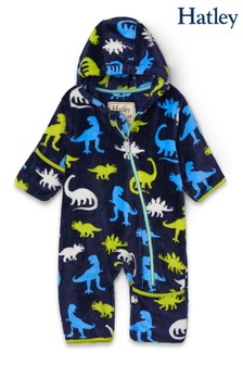 Hatley Silhouette Dinos Fuzzy Fleece Baby Bundler All-In-One
