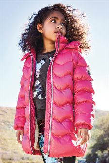 Long Sporty Padded Jacket (3-16yrs)