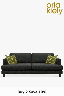 Orla Kiely Willow Large Sofa with Walnut Feet
