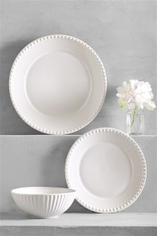 12 Piece Country Luxe Dinner Set