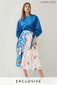 Mix/Teatum Jones Print Pleat Skirt
