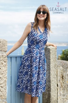 Seasalt Picnic Spot Dress Painted Circles Salt