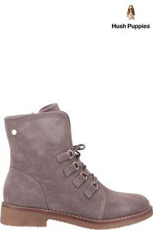 Hush Puppies Grey Milo Zip Ankle Boots
