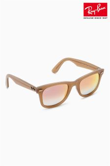 Ray-Ban® Rose Gold Mirrored Wayfarer Sunglasses