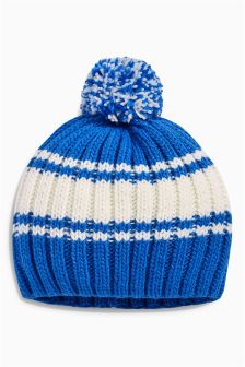 Retro Stripe Pom Beanie (Older)