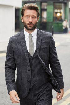 Stripe Nep Slim Fit Suit