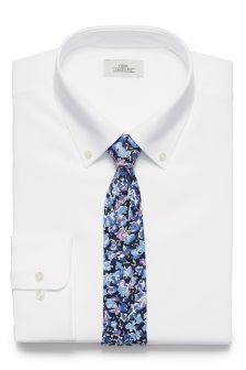 Oxford Regular Fit Button Down Shirt With Tie Set