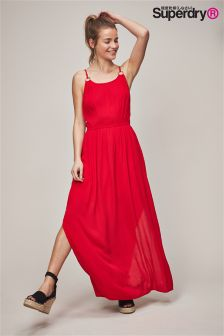 Superdry Blake Red Ring Maxi Dress