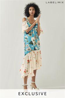 Mix/Teatum Jones Silk Print Dress