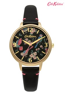 Cath Kidston® Black Floral Dial Watch