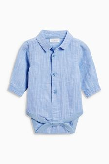 Chambray Shirtbody (0mths-2yrs)
