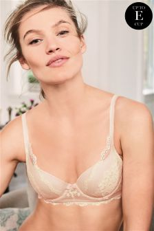 Phoebe Lightly Padded Longline Lace Balcony Bra