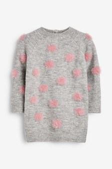 Pom Pom Jumper Dress (3mths-7yrs)