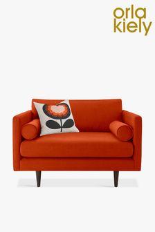 Orla Kiely Mimosa Snuggle Sofa with Walnut Feet
