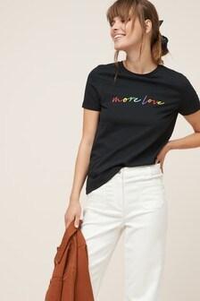 Rainbow Slogan T-Shirt
