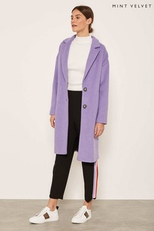 Mint Velvet Purple Chuck On Coloured Coat