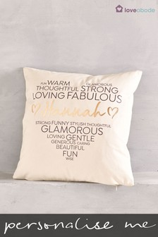 Personalised Heart Cushion by Loveabode