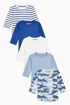 长袖T恤五件装 (3个月-6岁)