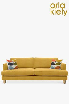 Orla Kiely Willow Large Sofa with Oak Feet