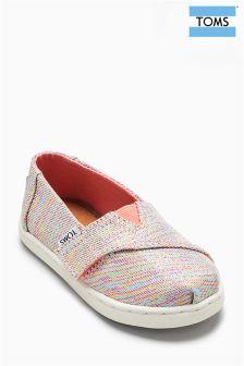 Toms Pink Multi Twill Glimmer Alpargatas Shoe