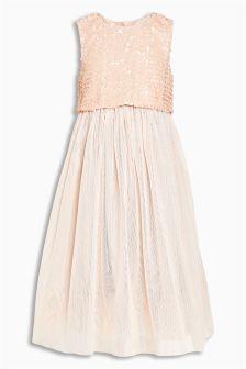 Sequin Mesh Dress (3-14yrs)