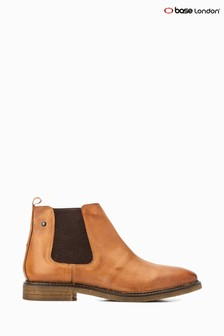 Base London® Tan Gordon Pull-On Chelsea Boots