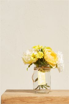 Yellow artificial flowers decorative accessories next uk floral tag jar mightylinksfo