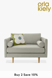 Orla Kiely Mimosa Snuggle Sofa with Oak Feet