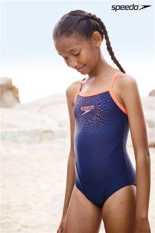 Speedo® Gala Logo Thinstrap Muscleback Swimsuit