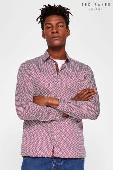 Ted Baker Red Skaree Geo Print Shirt