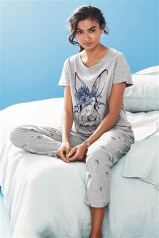 Bunny Print Soft Pyjamas