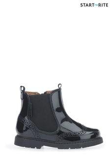 Start-Rite Lack-Chelsea-Boots, schwarz