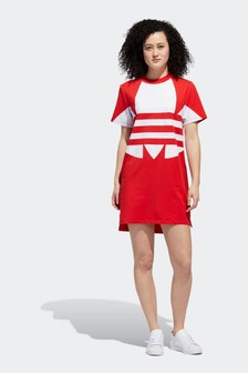 adidas Originals Red Large Logo Dress