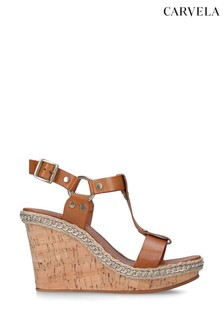 Carvela Karolina Tan Wedge Sandals