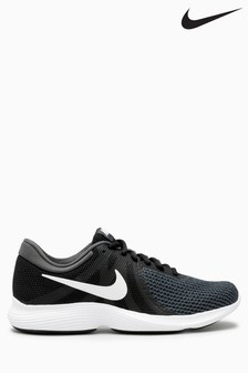 Black Grey Nike Run Revolution 4