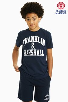 Franklin & Marshall Navy Logo Tee