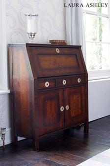 Balmoral Dark Chestnut 2 Door 3 Drawer Bureau by Laura Ashley