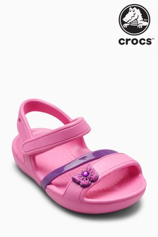 Crocs™ Party Pink Lina Butterfly Sandal