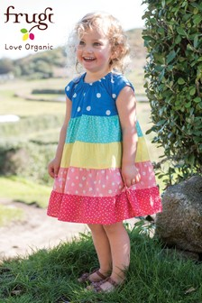 Frugi Organic Rainbow Tiered Cotton Dress