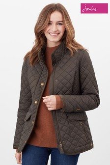 Joules Green Newdale Quilted Coat